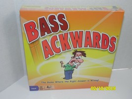Bass Ackwards The Game Where the Right Answer is Wrong! Pressman Board Game Team - $29.05