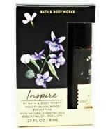 Bath & Body Works INSPIRE Essential Oil Roll On VIOLET SANDALWOOD EUCALY... - £11.62 GBP