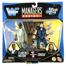 Clarence Mason and Crush Managers Series WWF WWE Jakks Figure 1997 Sealed - $29.65