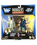 Clarence Mason and Crush Managers Series WWF WWE Jakks Figure 1997 Sealed - $29.65
