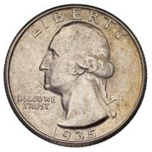 1935-S 25C Washington Quarts Au État, Excellent Oeil Appeal & Luster - $56.06