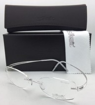 SILHOUETTE Eyeglasses 4489 00 6050 51-17 140 23K Gold Plated Shiny Silve... - $499.95