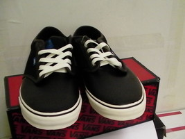 Vans Mens shoes skating atwood black/sudan/antique size 12 us new with box - $54.40