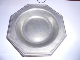 RWP! Wilton / Country Wide Pewter! Octagon Soup Bowl in Excellent Condit... - $3.91