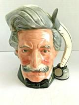 Royal Doulton D6654 MARK TWAIN Large Character Jug / Mug Good Condition - $55.97