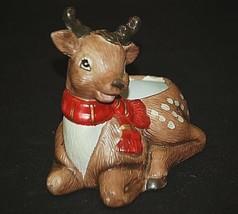 Christmas Xmas 1992 Reindeer Planter Figurine Windowsill Shelf by Creati... - $16.82