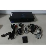 Testé Fonctionne Très Bien Ps2 Console Système Original Noir avec / Cords - $52.99