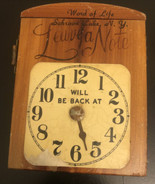 "VINTAGE WOOD ""WILL BE BACK  AT"" ""CLOCK"" SIGN BOX leave a note - $15.84"