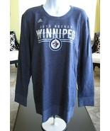 Adidas NHL Hockey Winnipeg Jets Women's XL Stripe Slant Comfy Crew Shirt... - $31.68