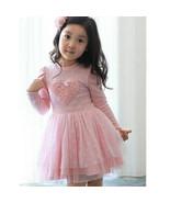 NWT Valentines Day Girls Pink Heart Long Sleeve Tutu Dress 2T 3T 4T 5T 6 - $10.99