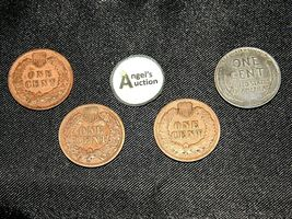 Indian Head Penny 1901, 1902, 1903 and 1943 D Steel Penny AA19-CNP6009 Antique image 8