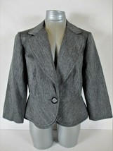 SWEET SUIT womens Sz 12 L/S gray ONE BUTTON jacket (A4) - $13.19