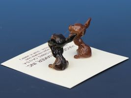 Hagen Renaker Dog Chihuahua Tiny Puppies Begging White Eye Figurine Set image 3