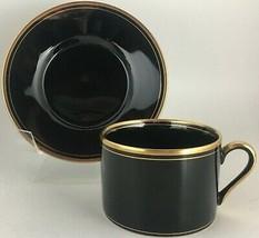 Fitz & Floyd Pavillon Black Cup & saucer - $10.00