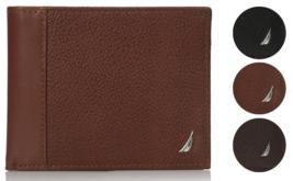 Nautica Men's Bifold Genuine Leather Credit Card ID Passcase Wallet 31NU22X026