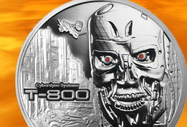 Terminator T-800 2 Oz .999 Silver Proof Round With COA & Individually Numbered image 2