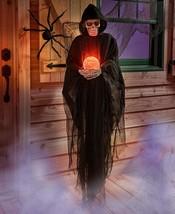"60"" GRIM REAPER Haunted House Skeleton Color Change Crystal Ball Hallowe... - $923,49 MXN"