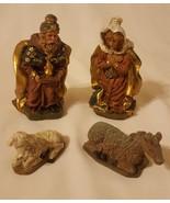 4 Piece Figurines Nativity Biblical Set Christmas table home office Deco... - $24.44