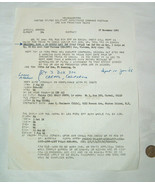 1965 United States Military Command Special Order Extract to Vietnam Pap... - $42.31