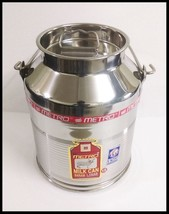 Stainless steel milk oil liquid storage can jug pot for dairy farm 15 li... - $83.60