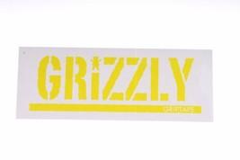 Grizzly Griptape Stamp Logo Neon Sticker