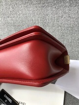 AUTHENTIC CHANEL RED QUILTED CALFSKIN 2 WAY TOP HANDLE BOY FLAP BAG RECEIPT  image 5