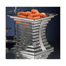 10 x 10 x 10 3/4 inch Riser 18/2 Stainless Steel with Bon Chef 12090 Heater - $501.55