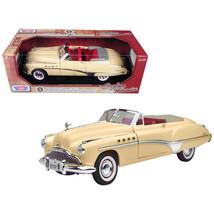 1949 Buick Roadmaster Cream 1/18 Diecast Model Car by Motormax 73116cr - $52.64