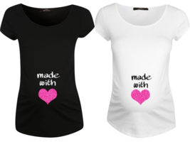 Made with Love Maternity Personalised T Shirt T... - $19.43