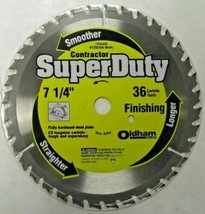"Oldham B725C436 7-1/4"" x 36 Tooth Carbide Saw Blade BULK - $5.45"