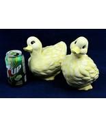 "Vintage Ducks Ceramic Yellow 1995 Set of 2 Handmade 6-8""  - $39.59"