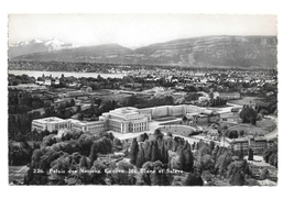 Switzerland Geneva Palace of Nations Mt. Blanc et Saleve Birds eye View ... - $4.95