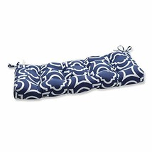 Pillow Perfect Outdoor/Indoor Carmody Navy Tufted Bench/Swing Cushion, 4... - £67.54 GBP