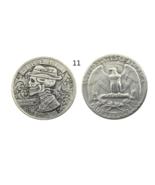 US Hobo 1934 Washington Quarter Dollars Faceless Man skull skeleton Coins - $7.99