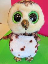 """TY Beanie BOOS Bird SAMMY the OWL 6.25"""" tall, 2015 - $4.99"""