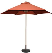 Tropishade 9 ft Wood Market Umbrella with Rust Color Polyester Cover - £43.45 GBP