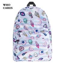 Mallrat Eomji Panda Print Backpack Women Mochila Necessaire 4 8AG - $23.48