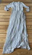 downeast NWOT women's stripe long dress Size XS White Black N1 - $13.76
