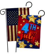 4th of July Stars - Impressions Decorative USA Vintage - Applique Garden... - $30.97