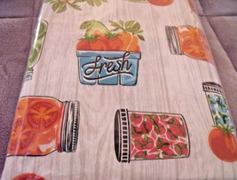 "NEW Local FRESH PRESERVES TABLECLOTH 52"" X 70""  FRUITS JAMS Veggies Cann... - $15.24"