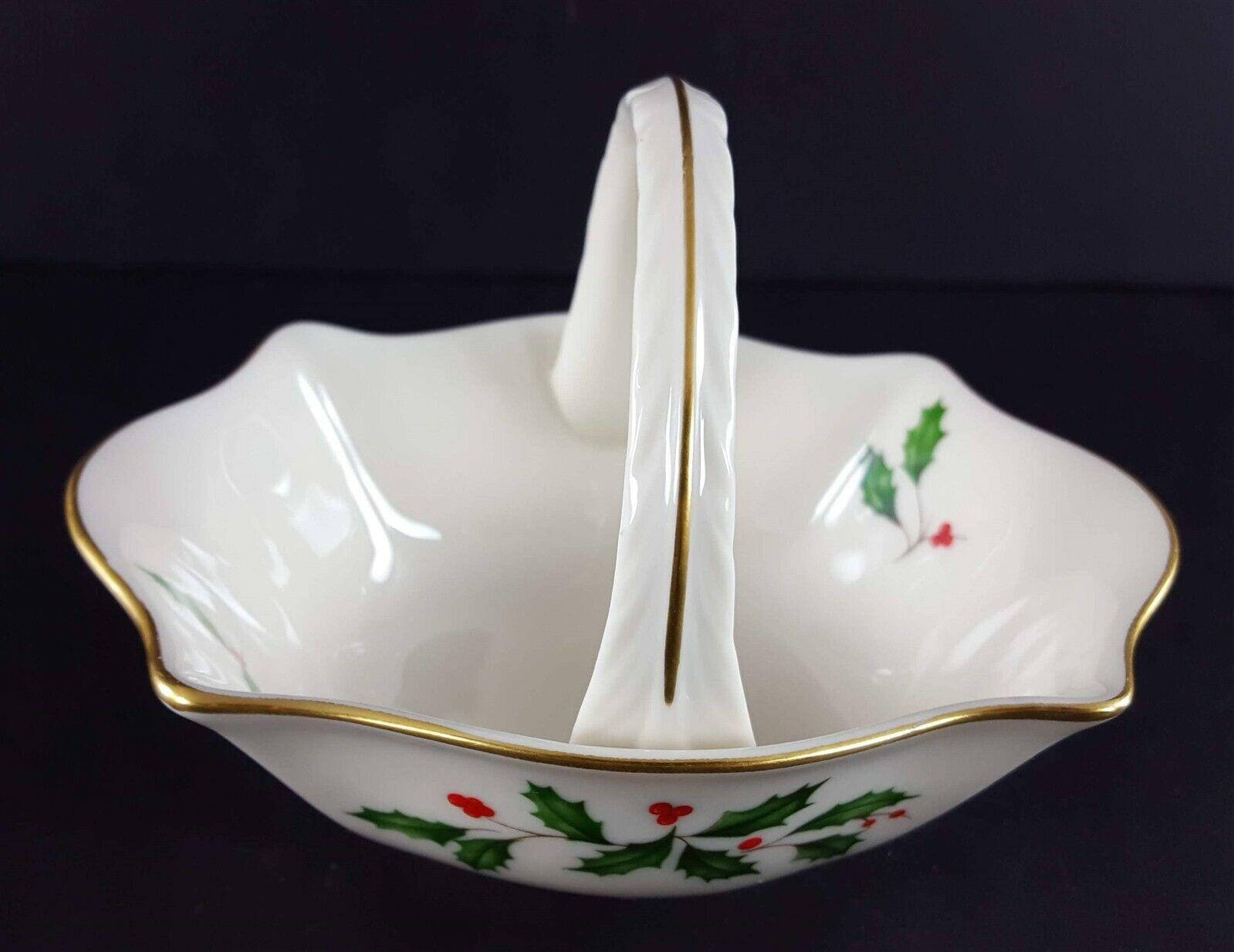 "LENOX China Holiday Dimension Small Basket 4-1/2"" Across Dinnerware image 5"