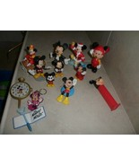 """Disney Mickey Mouse  Figure Lot of 13 Cake Toppers Toys 2-3.5"""" most mick... - $13.64"""