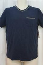 Alfani RED Mens T Shirt Sz S Neo Navy Blue Short Sleeve V Neck Pocket Tee   image 2