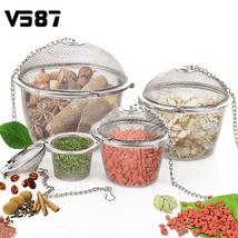Tea Strainer Filter Basket Coffee Stainless Steel Mesh Infuser Brewing R... - £3.74 GBP+