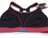 NWT Shock Absorber Ultimate Run Bra - Black/Pink/Turquoise - S5044 - Size 38F