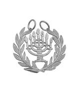 New Symbol Jewish People & State of Israel 7 branch menorah Sterling Sil... - $24.75