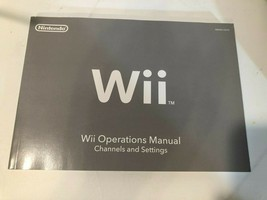 Nintendo WII Operations manual for video game system - $4.21