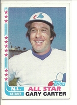 (SC-294) 1982 Topps Baseball Card #344: Gary Carter - All-Star - $1.50