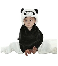 Baby Flannel Blanket/Infant Spring and Summer Quilt/Infant Bathrobe Panda image 2