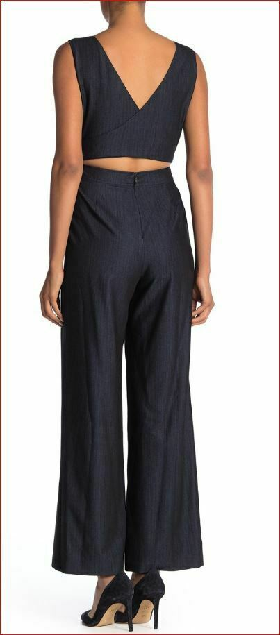 Nuevo Calvin Klein Mujer Mono Mono Pantalones Top CD9D11MT Azul Marino 4 Msrp image 2